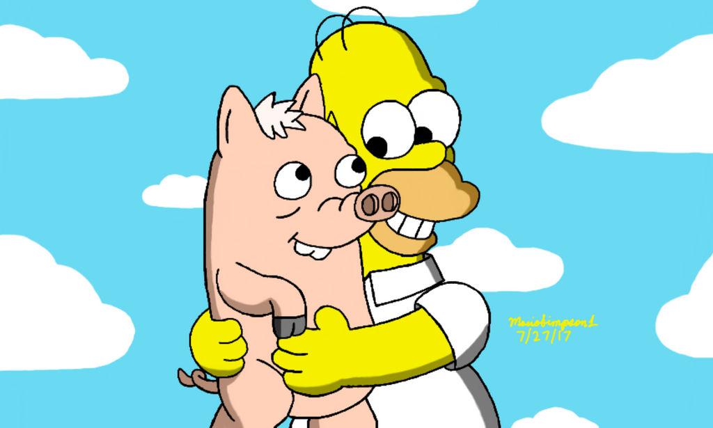 Homer And Plopper By Mariosimpson1 On Deviantart