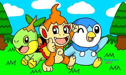Pokemon Gen 4 Starters