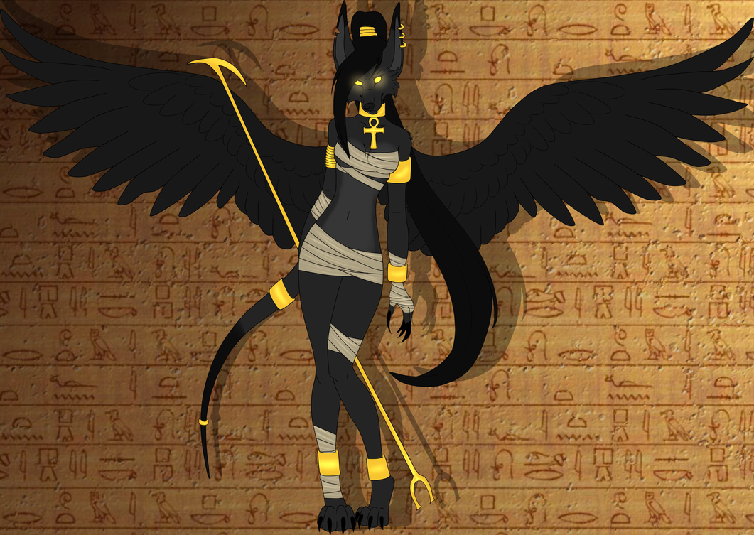 Anubis Jackal She-Wolf Adopt CLOSED by TireaAdoptions