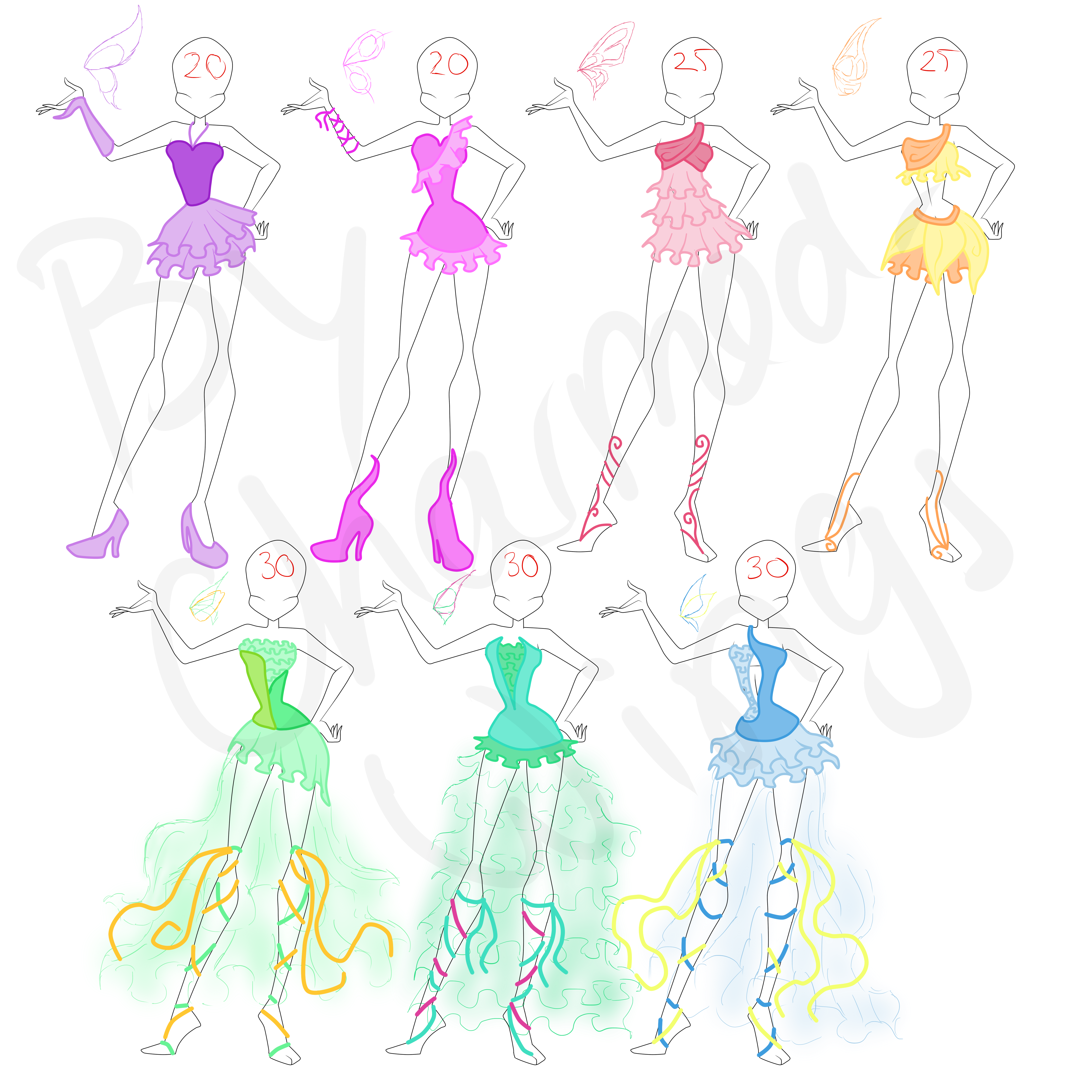 SOLD: Winx designs adoptables by CharmedWings