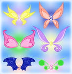 SOLD: Adoptable Magic Winx wings set 2