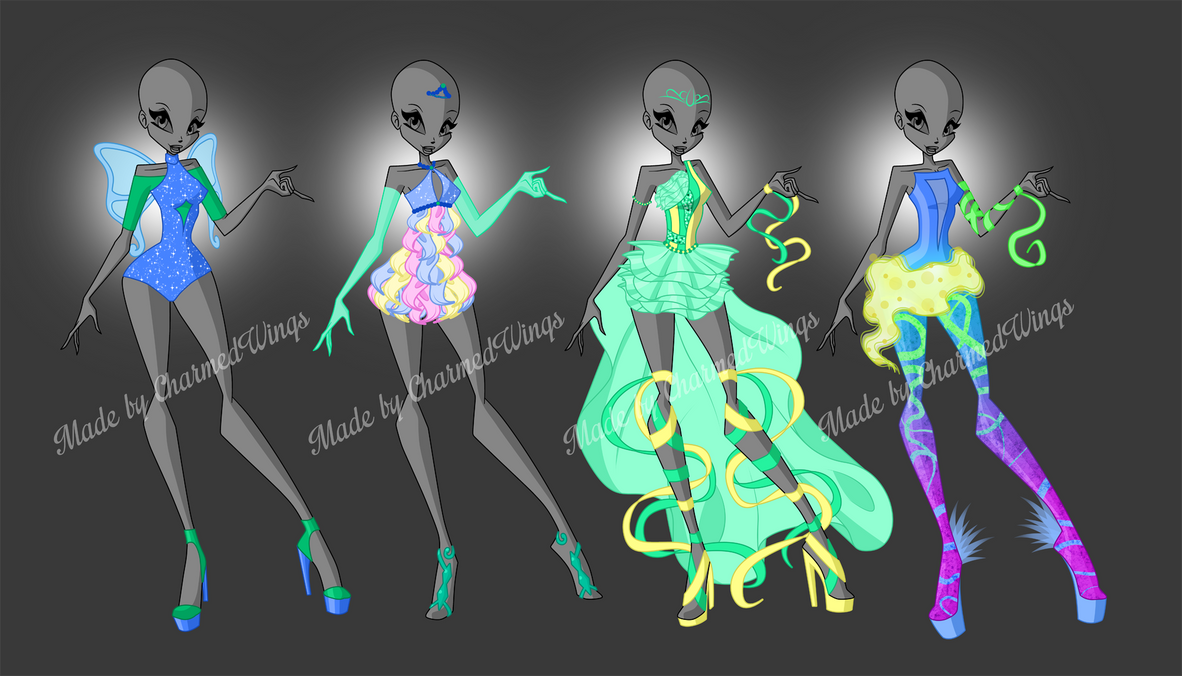 SOLD: Winx Club - outfit adoptables by CharmedWings