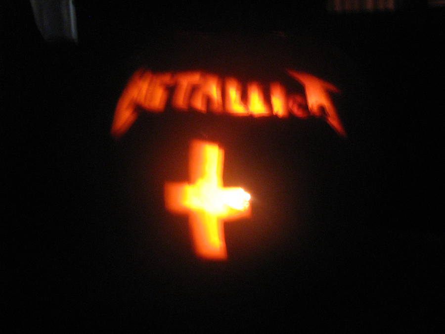 Crappy metallica pumpkin by sound ninja on deviantart