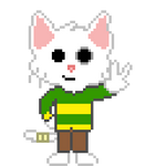 Caleb the pixelated cat