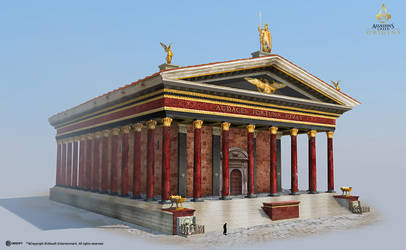 AC: Origins - Temple of Mars - Exterior by didoneto