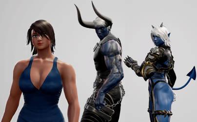 Soul Calibur 6 - Demon Sanya and Lexa meet Sasha by SOLDIER-Cloud-Strife