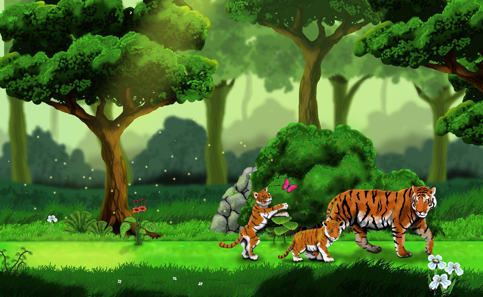 Animated jungle background hd