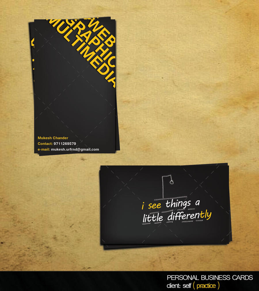 visiting card design by MUK9988 on DeviantArt