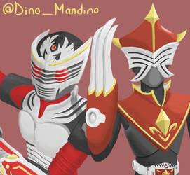 Kamen Rider Ryuki and Crown by DinoMandarino