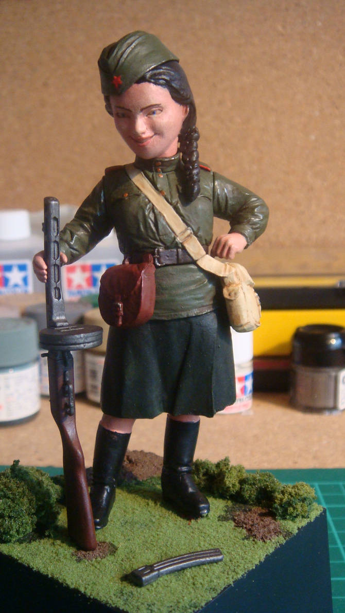 1/12? WW2 Soviet Army Female Soldier CLOSE UP 1 by MrScrub