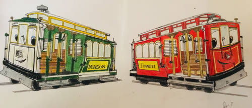 The Cable Car Twins  by FiremanHippie