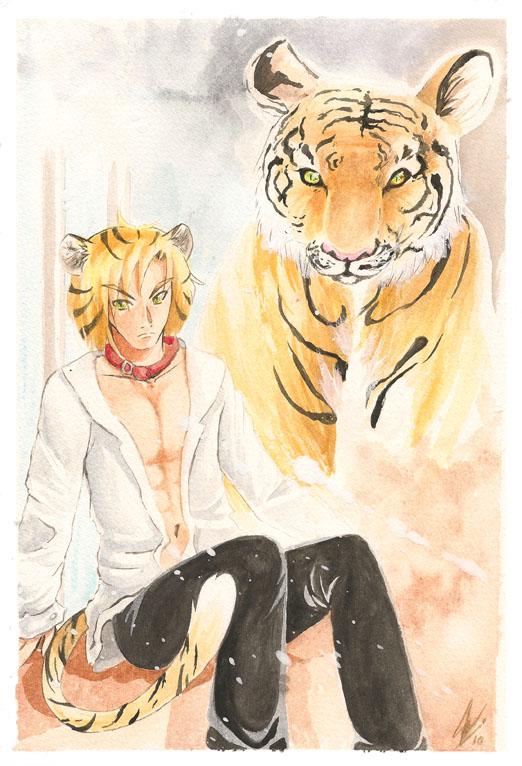Tetsu, the tiger by Saku-Zelda