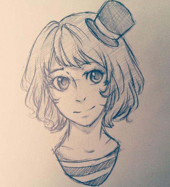 Quick Headshot Sketch of Dannie by DontEatMyPiexD