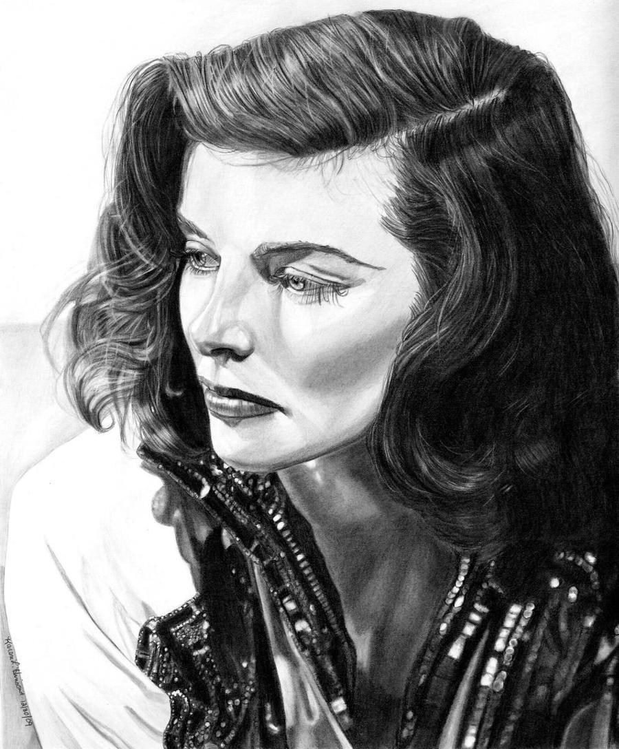 Katharine Hepburn by khinson