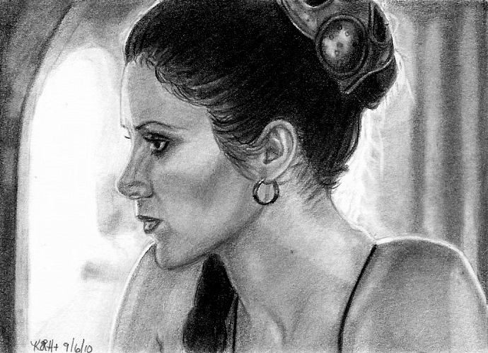 ROTJ Leia Sketch Card by khinson