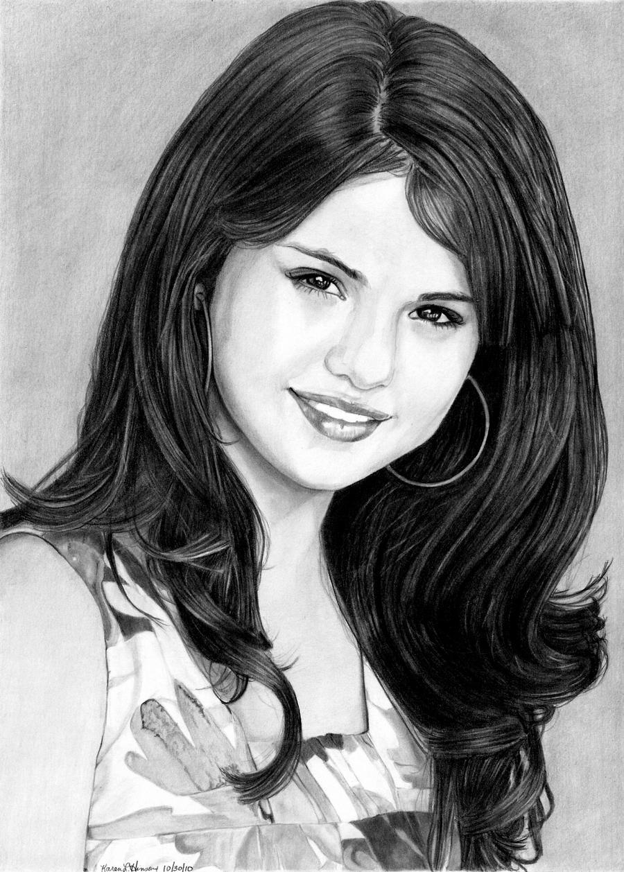 Selena gomez by khinson on deviantart - Selena gomez dessin ...