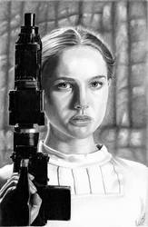 Pistol Packin' Padme by khinson
