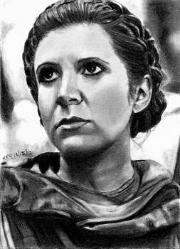 Endor Leia Sketch Card 12/15/2012