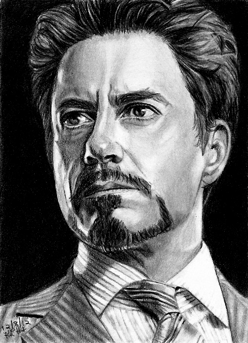 Tony Stark Sketch Card 12/8/2012 by khinson