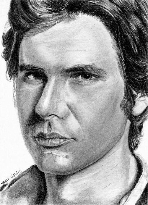 Han Solo Sketch  Card 01/26/2013 by khinson
