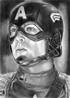 Captain America Sketch Card 8-23-2013 by khinson