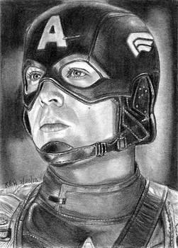 Captain America Sketch Card 8-23-2013