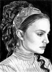 Ep 2 Naboo Padme Sketch Card for my Niece by khinson