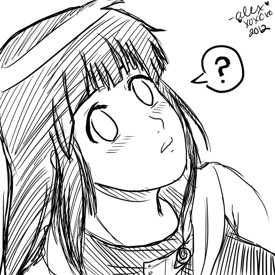 confused hinata by shock777