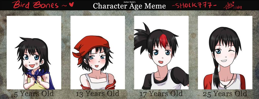 OC Age Meme Bird Bones by shock777