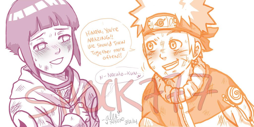 NaruHina training sketch by shock777