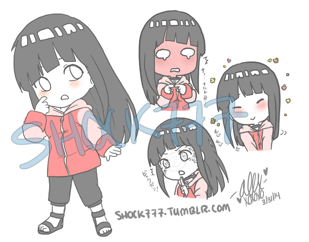 Pink Hinata Chibis by shock777