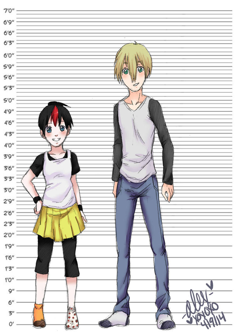 Anime Characters Over 6 Feet Tall : Bb and eric height comparison by shock on deviantart