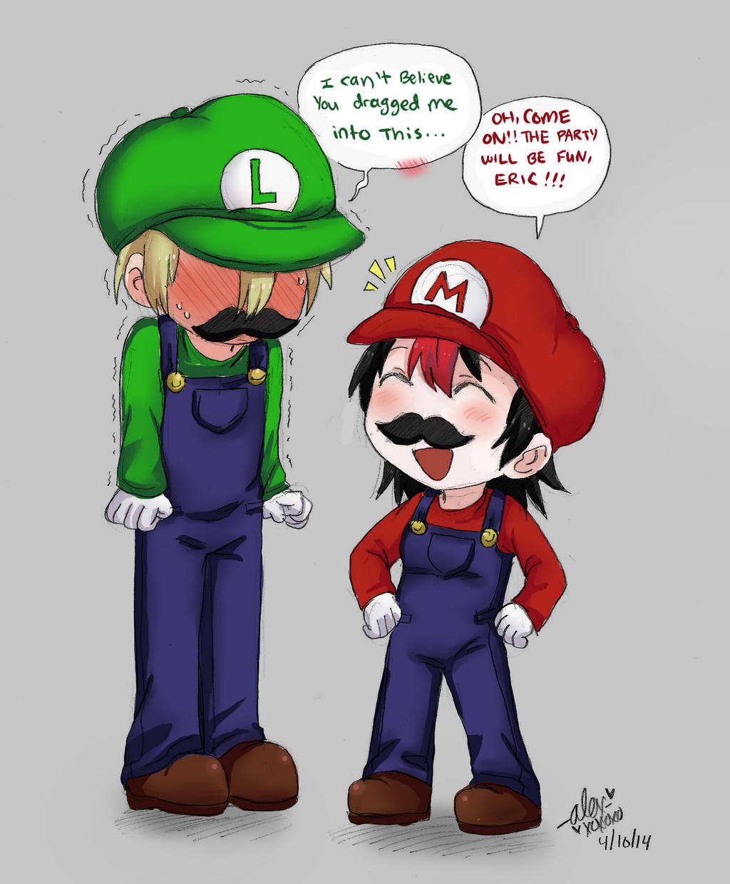 Mario And Luigi?? by shock777