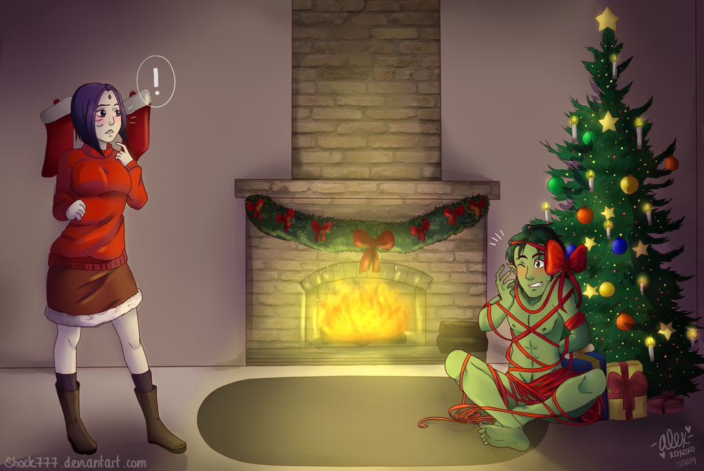 نتیجه تصویری برای Christmas teen titans deviantart