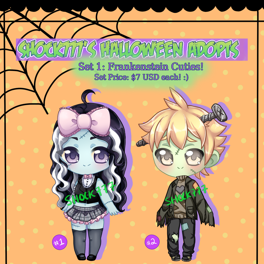 Halloween Adopts-Set 1 OPEN by shock777