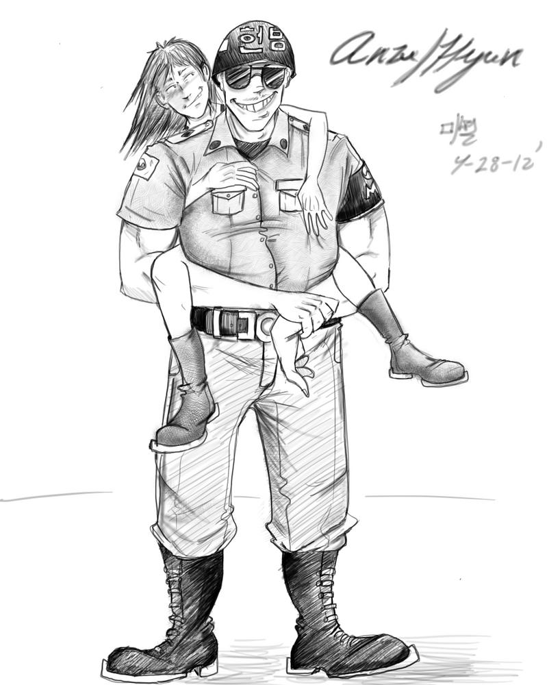 Anzu_and_Hyun by ZeroSen2