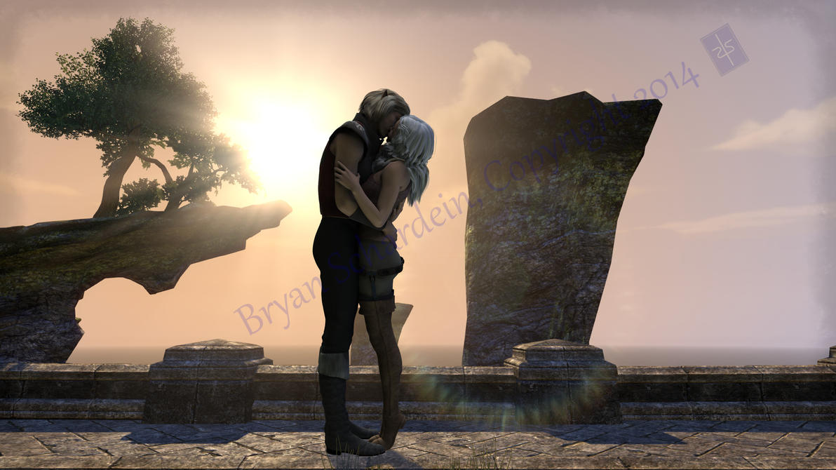 Betath and Kaawen.Vulkhel Guard.First Kiss. by ChessCoach