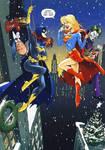 Supergirl Batgirl Christmas
