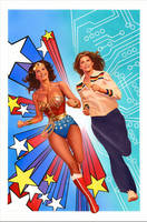 Wonder Woman  Bionic Woman by battle810