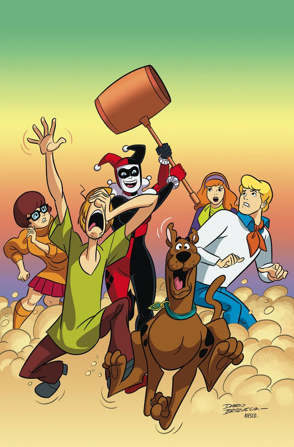 Harley Quinn and the Scooby-Doo Gang by battle810