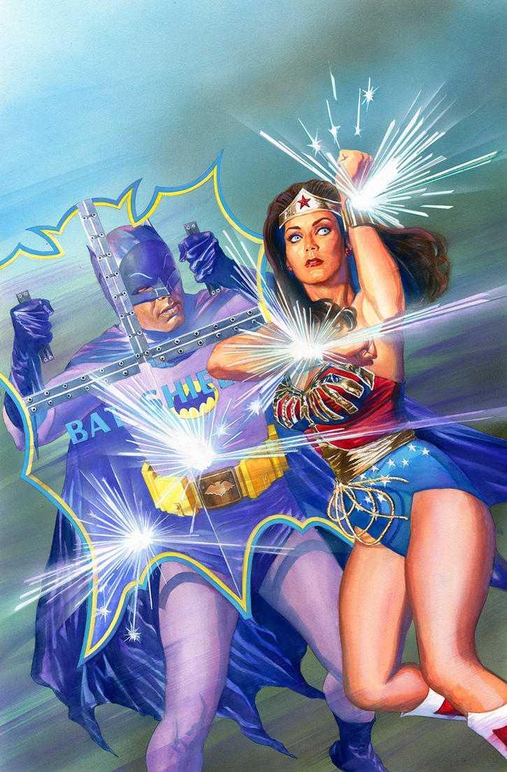 Classic Batman and Wonder Woman by battle810