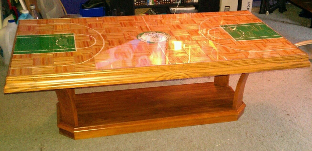 Boston Celtics Coffee Table By Scotthow On Deviantart