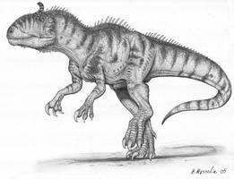 Cryolophosaurus by BrokenMachine86