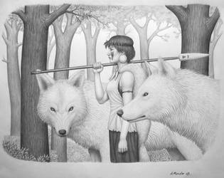 Mononoke Hime by BrokenMachine86