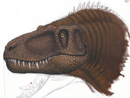 Young T.Rex head by BrokenMachine86