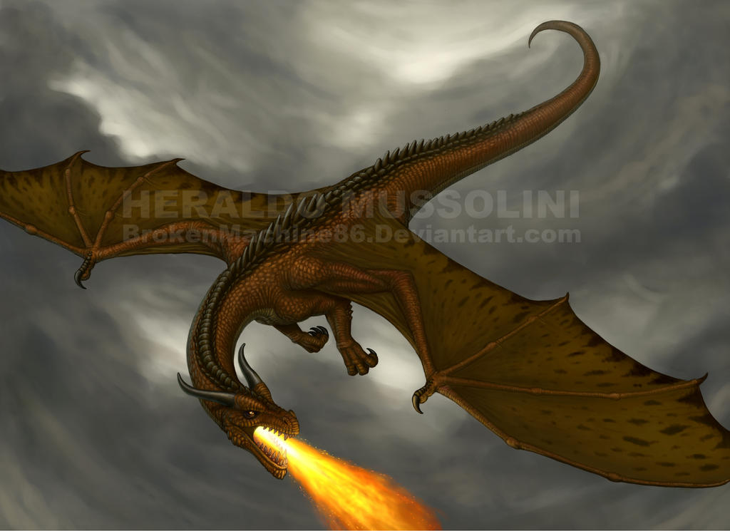 Flying Dragon By BrokenMachine86 On DeviantArt
