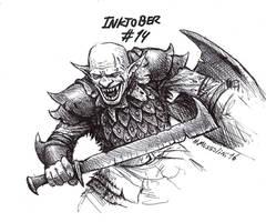 Mordor orc - Inktober 14 by BrokenMachine86