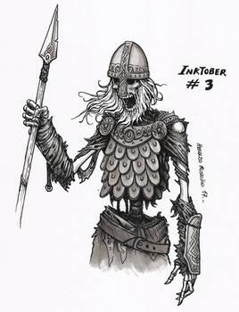 Undead warrior - Inktober 3 2017