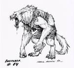 Werewolf - Inktober 14 2017