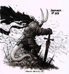 Demon warrior - Inktober 23 2017